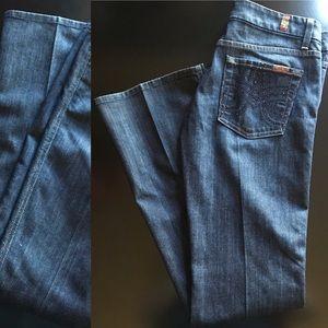 7FAM A Pocket Jeans Dark Wash Embellished Size 29